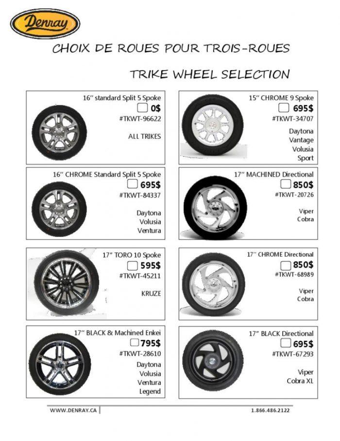 Options de roues