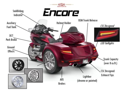 Trois-roues Honda ENCORE | Honda Goldwing 1800 2018 à present